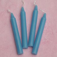Light Blue Mini Chime Ritual Spell Candles