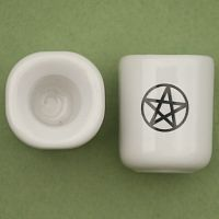 Pair of Pentacle Mini Candle Holders