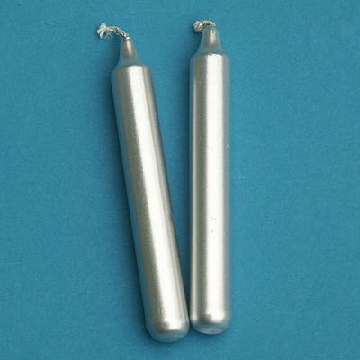 Silver Candles - set of 2 mini candles