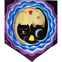 Purr-fect Love Pennant - Reiki Candles, Candles, Holders, Altar Accessories, Hearts & Romance