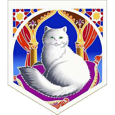 Persian Cat Pennant - Banners & Flags, Cats