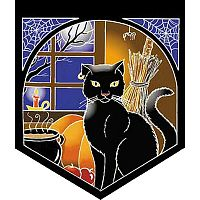 Cat with Cauldron Pennant