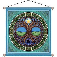 Tree of Life Meditation Banner - Banners & Flags, Trees & Greenman