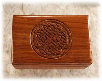 Circle Knot Wooden Box - Hearts & Romance, Knotwork, Boxes & Bottles, Portable Altars, ,