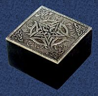Tiny Metal Pentacle Box