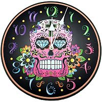 Black Sugar Skull Clock