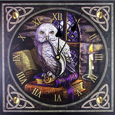 """Literary Owl"" Wall Clock - Clocks, Owls"