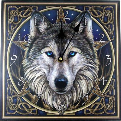 """Wild One"" Wall Clock - Clocks, Wolves"