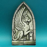 Winged Lion Relief - Gryphon & Gargoyle Statuary, Gryphons, Gifts for Students,