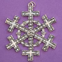 Celtic Cross Snowflake Ornament