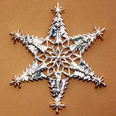 Christmas Tree Snowflake Ornament