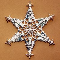 Christmas Trees Snowflake Ornament