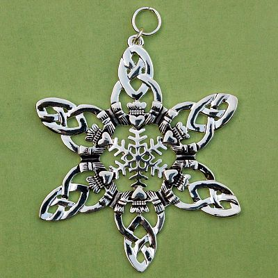 Claddagh Snowflake Ornament