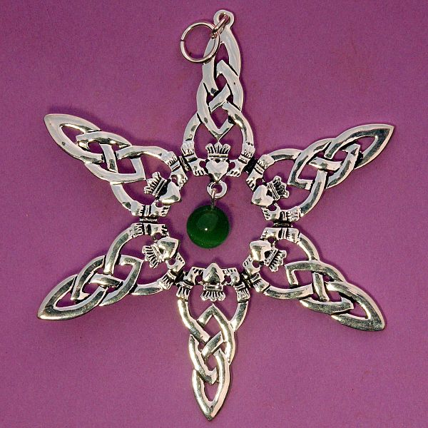 Keep Cat Away From Christmas Tree: Claddagh Tree Ornament With Bead At Gryphon's Moon