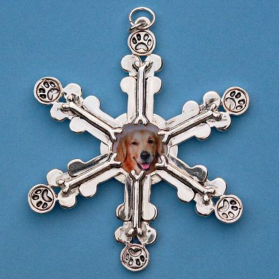 Dog Lover's Snowflake Ornament