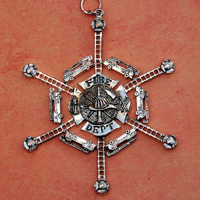 Firefighters Snowflake Ornament