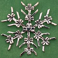 Shamrock Snowflake Ornament