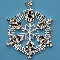 Christmas Train Snowflake Ornament