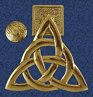 Brass Trinity Knot Door Knocker - Free shipping on orders over $50 at Gryphon