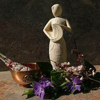 Crescent Goddess Statuette - Goddess, Statuary, Altar Accessories, Moons & Stars, Pagan Statuary