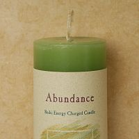 Reiki-Charged Abundance Pillar Candle