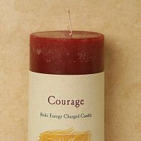 Reiki-Charged Courage Pillar Candle