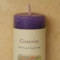 Reiki-Charged Creativity Pillar Candle