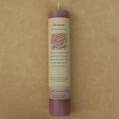 Reiki-Charged Harmony Pillar Candle