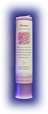 Harmony Candle - Reiki Charged Herbal Pillars, Candles, Altar Accessories, Reiki Candles