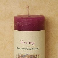 Reiki-Charged Healing Pillar Candle