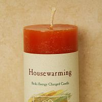 Reiki-Charged Housewarming Pillar Candle