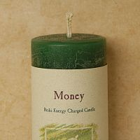 Reiki-Charged Money Pillar Candle