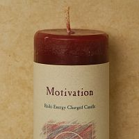 Reiki-Charged Motivation Pillar Candle
