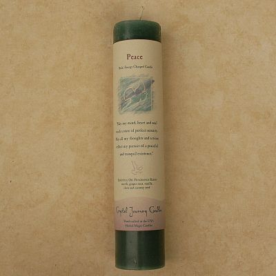 Reiki-Charged Peace Pillar Candle