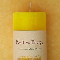 Reiki-Charged Positive Energy Pillar Candle