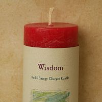 Reiki-Charged Wisdom Pillar Candle