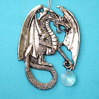 Dragon Pewter Suncatcher