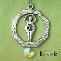 Goddess Pewter Suncatcher