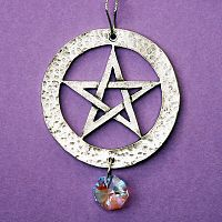 Pentacle Pewter Suncatcher