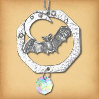 Bat Pewter Suncatcher