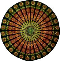 Stained Glass Design Tablecloth - Tapestries & Bedspreads