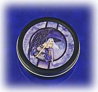 """Moonlight Blue"" Fairy Tin - Boxes, Fairies, Moons & Stars"