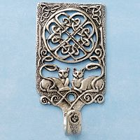 Celtic Cat Wall Hook