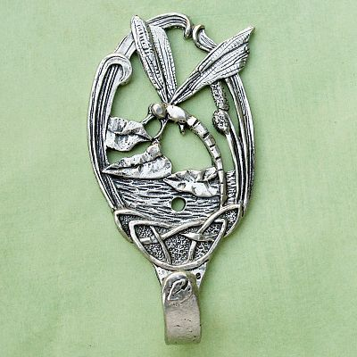 Dragonfly Wall Hook - Pewter Wall Hooks, Kitchen Accessories, Butterflies and Dragonflies