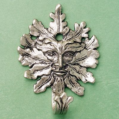 Greenman Wall Hook - Pewter Wall Hooks, Trees & Greenman, Kitchen Accessories