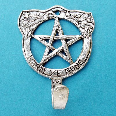 Pentacle Wall Hook - Pewter Wall Hooks, Kitchen Accessories