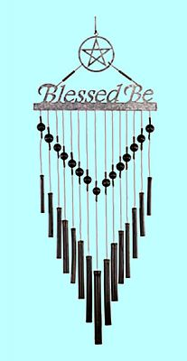 """Blessed Be"" Windchime - Pentacles, Moons & Stars, Windchimes"