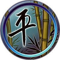 Bamboo Peace Window Sticker - Window Stickers