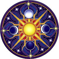 Celestial Mandala Window Sticker - Window Stickers, Moons & Stars