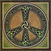 Celtic Peace Illumination Art